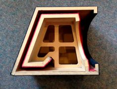 Cross section view of JL Audio H. Audio Box, Pro Audio Speakers, Jl Audio, Diy Speakers, Diy Subwoofer, Subwoofer Box Design, Speaker Box Design, Home Theater Speaker System, Best Home Theater System