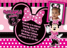 Minnie Mouse Birthday Invitation by MellysHandmades on Etsy, $10.00