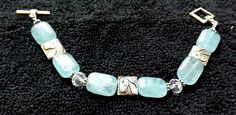 Beaded Horse Bracelet in light blue by Itsallabouthorses on Etsy