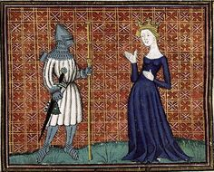 Bib. Ste. Genevieve MS.1130 Pèlerinage de vie humaine Medieval Life, Medieval Art, Glass Wall Art, Stained Glass Art, Medieval Manuscript, Illuminated Manuscript, Medieval Crafts, Medieval Helmets, Late Middle Ages