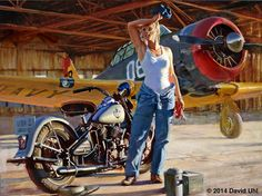 Harley-Davidson Art, Vintage Motorcycle and Aviation Paintings, Designer Apparel - Uhl Studios, Golden, Colorado