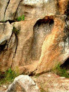 Foot print in rock