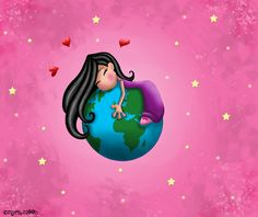 Il est a moi le monde ! by Myria-Moon by Myria-Moon (print image) Illustrations, Illustration Art, Bible Study For Kids, Our Planet Earth, Sun Moon Stars, Free Hugs, Moon Print, Whimsical Art, Drawing
