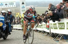 Past winner 2013: Fabian Cancellara attacks that saw him take a solo victory once again. Fotoreporter Sirotti