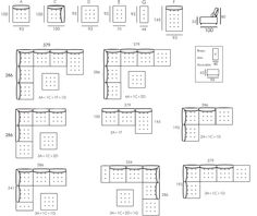 These are the available Alice Modular Fabric Sofa configurations from UK sofa expert, Darlings of Chelsea. Which bespoke layout would you have for your modular sofa? Cafe Interior, Interior Design Living Room, Living Room Designs, Data Architecture, Architecture Details, Salas Lounge, Floor Plan Layout, Modular Sofa, Fabric Sofa