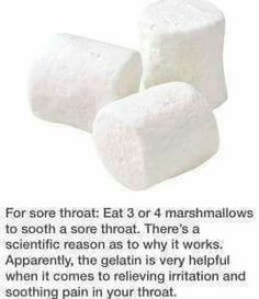 Sore throat soothing gelatin