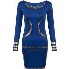 2015 new O-neck long sleeve hot stamping women's casual work sexy bodycon dress kim kardashian dress