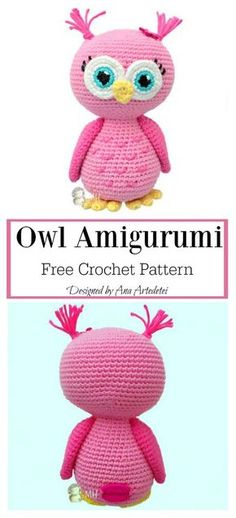 Delightful Crochet an Amigurumi Rabbit Ideas : Crochet Amigurumi Dolls Adorable Owl Amigurumi Free Crochet Pattern Crochet Amigurumi Free Patterns, Crochet Doll Pattern, Crochet Stitches Patterns, Amigurumi Elephant, Amigurumi Doll, Crochet Gratis, Cute Crochet, Crochet Owls, Easy Crochet Projects