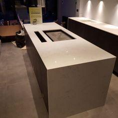 Monaco Carrera - London, - Rock and Co Granite Ltd Carrera, Monaco, Marble Effect, Work Tops, Off White Color, Classy, London, Furniture, Home Decor