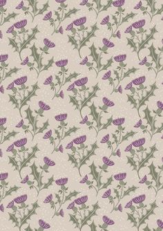 Glen Thistle on Light Grey Fabric - Inspired by the historic Highlands region of Scotland where ancient rocks form majestic mountain ranges. Designer Fabrics Online, Fabric Online, Fat Quarters, Sewing Crafts, Sewing Projects, Cream Flowers, Christmas Fabric, Scottie Dog, Grey Fabric