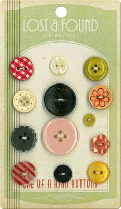 What a nice idea to display an assortment of lost and found buttons.