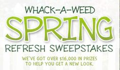 TRY YOUR LUCK AT THE WACK A WEED SWEEPS!!  ENTER HERE~http://couponshopaholic.net/?p=13076