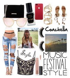 """Coachella Fashion #1"" by goldenelenaisaunicorn ❤ liked on Polyvore featuring Alexander McQueen, Hollister Co., Ivanka Trump, MAC Cosmetics and Barry M"