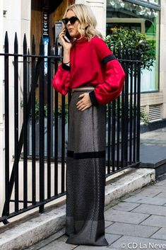 Tallia Storm London Fashion Week DAKS Street Style SS18 LFW