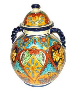Talavera_Vases-Exotic Talavera Jar with Handles : Item Mexican Home Design, Mexican Designs, Mexican Art, Ceramic Painting, Ceramic Art, Cultural Crafts, Mexican Ceramics, Talavera Pottery, Orisha