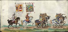 Albrecht Altdorfer (c. 1480 -1538), Hans Burgkmair (1473-1531), Albrecht Dürer (1471-1528) & others — Triumphal Procession, 1517 (1440x684)