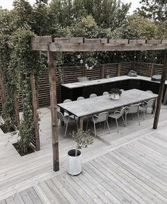 The wooden pergola is a good solution to add beauty to your garden. If you are not ready to spend thousands of dollars for building a cozy pergola then you may devise new strategies of trying out something different so that you can re Diy Pergola, Wooden Pergola, Pergola Shade, Corner Pergola, Pergola Roof, Wooden Fence, Outdoor Rooms, Outdoor Gardens, Outdoor Living