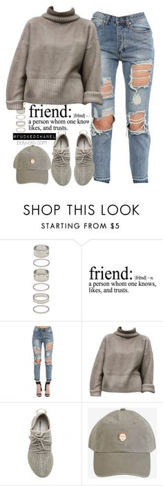 """""""yeezy."""" by fuckedchanel ❤ liked on Polyvore featuring Forever 21, adidas Originals, women's clothing, women's fashion, women, female, woman, misses and juniors"""