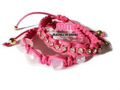 Kit Pulseiras Pink