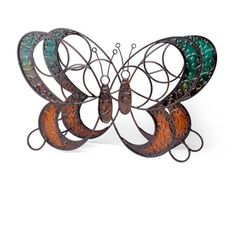 Butterfly Wine Rack is a unique and striking way to display your favorite wines. The metal wire frame design incorporates embossed elements that depict a butterfly in vivid colors.
