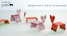 free printable valentine's card creatures - made by joel