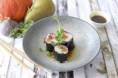 Makis de chasse Sushi, Asian, Seasonal Fruits, Red Kuri Squash, Asian Cuisine, Hunting, Rice