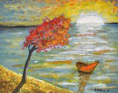 White Sunset - Oliver Martinović - Paintings & Prints Landscapes & Nature Other Landscapes & Nature - ArtPal