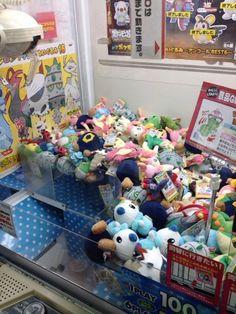 Pokemon Photos from Tokyo - Roggenrola Ferroseed Larvesta Oshawott Deerling plush dolls crane game