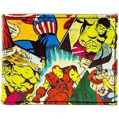 Genuine Marvel Comics Retro Comic Strip Repeat Print Bi-Fold Wallet Boxed Gift