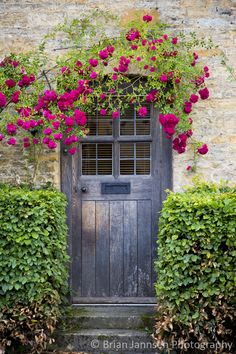 Cottage door, the Cotswolds, Gloucestershire, England. © Brian Jannsen Photography