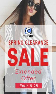 Cupshe Sale - Spring Clearance Sale with massive deals and discount offers at Cupshe.com