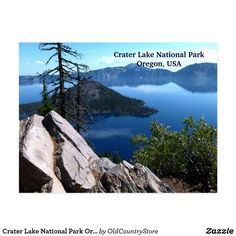 Crater Lake National Park Oregon Travel Postcards  SOLD on #Zazzle