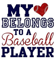 My heart belongs to a baseball player by WalnutStreetHouse2…. need to make shirts to wear to the kids' sporting events