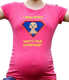 1e5316099ffad I grow people what's your superpower maternity t-shirt pregnancy tee at Amazon  Women's Clothing store: