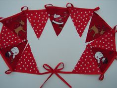 2 meters  christmas bunting father christmas and friends with stars  christmas