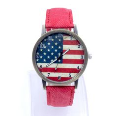 >> Click to Buy << American Flag Women Men Watches Color Belt Wristwatch Unisex Fashion Couple PU Leather Watchband reloj dama 2017 #Affiliate