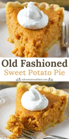 Sweet Potato Pie Recipe – Adventures of Mel How to make an old fashioned southern sweet potato pie that's simple, classic, and oh so scrumptious! Easy dessert for Thanksgiving and the holiday season! Homemade Sweet Potato Pie, Vegan Sweet Potato Pie, Homemade Pie, Southern Sweet Potato Pie, Recipe For Sweet Potatoe Pie, Old Fashioned Sweet Potato Pie Recipe, Sweet Potato Dessert, Southern Food, Simple Sweet Potato Recipes