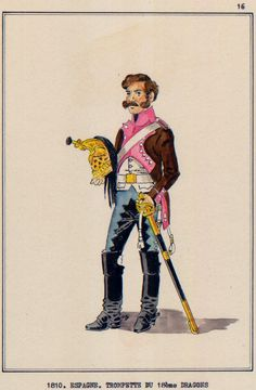 French; 18th Dragoons, Trumpeter, Spain, 1810