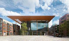 het nieuwe fries museum aan het zaailand
