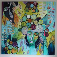 acrylic on canvas by Dorte Sund Jensen