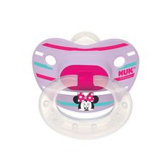 MINNIE MOUSE 2-Pack Orthodontic Pacifiers from NUK®, 6-18M