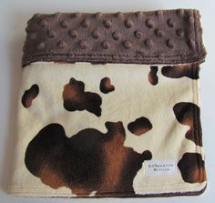 Pony Skin/Brown Dot Minky Security Blanket Lovey. $16.00 from sewbrookstone on etsy. Looks so soft!