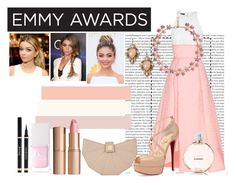 """""""emmy awards. styling sarah hyland."""" by rivarnnevaleen ❤ liked on Polyvore featuring Oris, Alex Perry, Christian Louboutin, Hervé Léger, Charlotte Tilbury, Christian Dior and Vintage Addiction"""