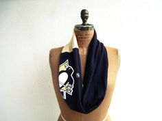 Pittsburgh Penguins T Shirt Infinity Scarf / Black Pale by ohzie