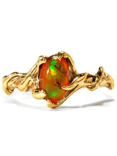 Mexican Fire Opal Wedding Rings - wedding gallery