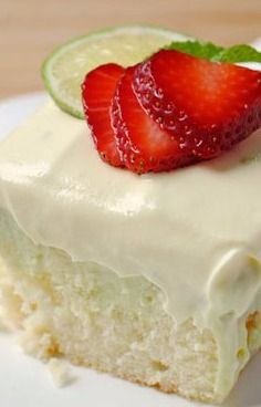So, How's It Taste? Key Lime Poke Cake