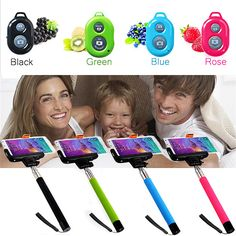 Extendable Self Portrait Selfie Stick Handheld Monopod + Wireless Bluetooth Remote Shutter Controller for IOS Android Phones - http://www.aliexpress.com/item/Extendable-Self-Portrait-Selfie-Stick-Handheld-Monopod-Wireless-Bluetooth-Remote-Shutter-Controller-for-IOS-Android-Phones/32310840049.html