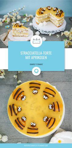 Stracciatella cake with apricot / apricot pie / bee cake / bee pie recipe Stracciatella cake with apricot / apricot pie / bee cake / bee pie recipe Elegant Birthday Cakes, Birthday Cakes For Men, Easy Birthday Cake Recipes, Birthday Cake For Husband, Funny Birthday Cakes, Homemade Birthday Cakes, Easy Cake Recipes, 20th Birthday, Cakes For Women