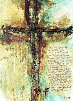 CROSS ART Canvas Print of Cross #041206 1 Corinthians 13:5