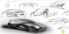 THE LUST IN A CONCEPT CAR - Multiple designs are created to show all sides of the cars interior and exterior. Every angle must be illustrated; this is to avoid any bugs during the later rendering process. There are many programmes out there used to create concept car sketches, creative professionals use tools from Autodesk Alias, Computer aided design (CAD) and Adobe Photoshop.
